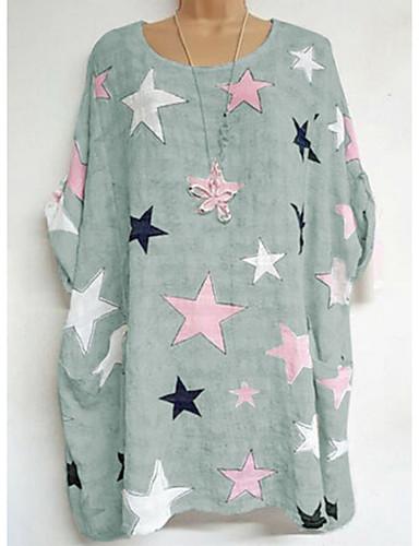 billige Dametopper-T-skjorte Dame - Geometrisk Hvit