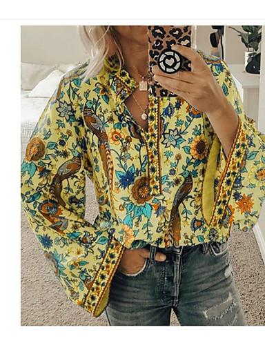 povoljno Majica-Majica Žene Dnevno Geometrijski oblici žuta