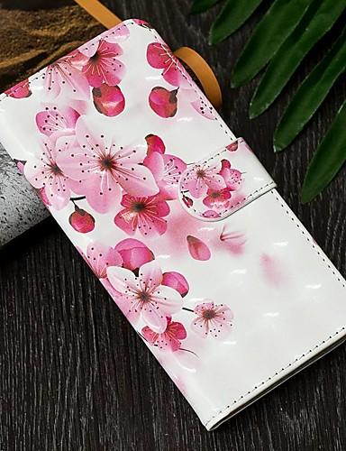 Pouzdro Uyumluluk Samsung Galaxy A6 (2018) / A6+ (2018) / A5 (2017) Cüzdan / Kart Tutucu / Şoka Dayanıklı Tam Kaplama Kılıf Çiçek PU Deri