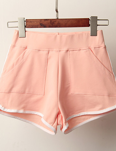 billige Tights til damer-Dame Sporty Løstsittende Shorts Bukser - Stripet Svart Dusty Rose Lysegrønn S M L