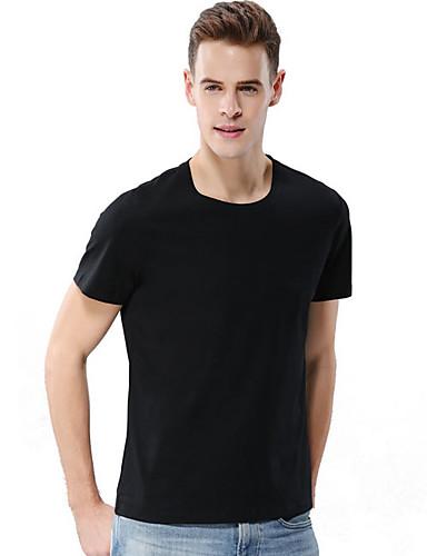 Erkek Tişört Solid Siyah