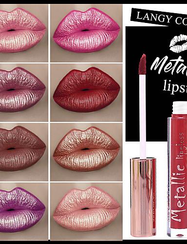 billige Leppe makeup-smakup nye metall non-stick kopp lipgloss flytende leppestift matt lipgloss leppeglasering makeup larga duracin leppestift sett batom make