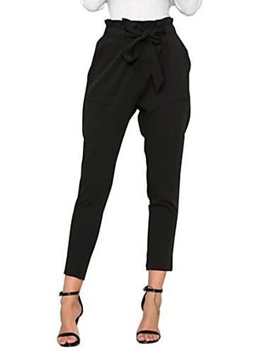abordables Pantalons Femme-Femme Sarouel Pantalon - Couleur Pleine Noir S M L