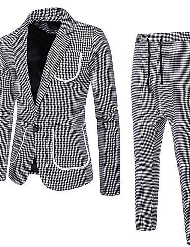 Erkek Suit Çentik Yaka Polyester Siyah / YAKUT / Yonca US36 / UK36 / EU44 / US38 / UK38 / EU46 / US40 / UK40 / EU48