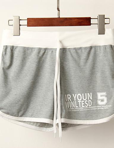 abordables Pantalons Femme-Femme Sportif Ample Joggings / Short Pantalon - Rayé Violet Jaune Bleu clair Taille unique
