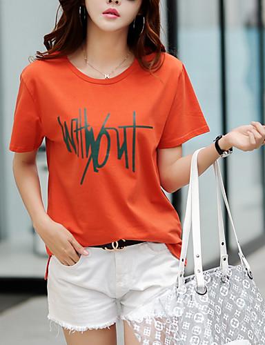abordables Hauts pour Femme-Tee-shirt Femme, Lettre Mosaïque Noir