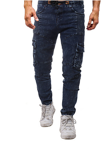 Erkek Temel Chinos Pantolon - Solid Havuz US36 / UK36 / EU44 US38 / UK38 / EU46 US40 / UK40 / EU48