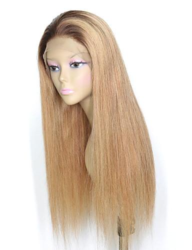 povoljno Perike s ljudskom kosom-Remy kosa 4x13 Zatvaranje Lace Front Perika Srednji dio Stražnji dio Slobodni dio stil Brazilska kosa Ravan kroj Perika 150% Gustoća kose Žene Najbolja kvaliteta novi Novi Dolazak Rasprodaja Žene