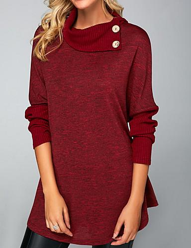 povoljno Ženske majice-Majica s rukavima Žene Dnevno Jednobojni Lila-roza