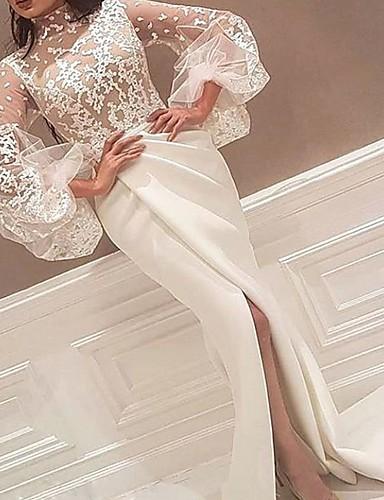 voordelige Maxi-jurken-Dames Wijd uitlopend Jurk - Effen Asymmetrisch