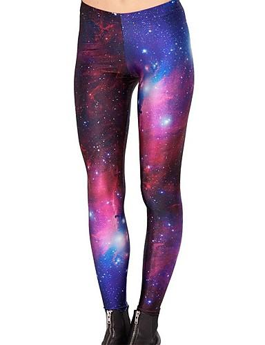 voordelige Livraison gratuite dès €69.99, Sports & Activités-Dames Yoga broek Galaxy Print Zumba Hardlopen Fitness Fietsen Tights / Lange Broek Legging Sportkleding Lichtgewicht Ademend Sneldrogend Rekbaar Skinny