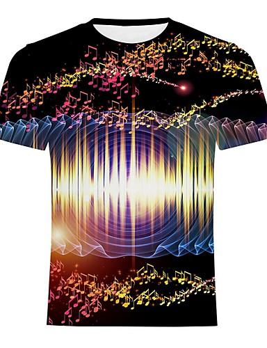 voordelige Heren T-shirts & tanktops-Heren Street chic / overdreven Print T-shirt Regenboog Regenboog
