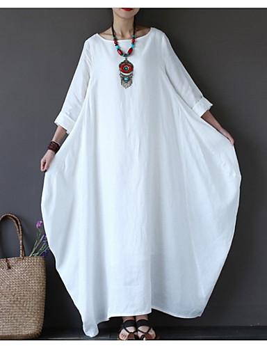 voordelige Maxi-jurken-Dames Wijd uitlopend Jurk - Effen Maxi
