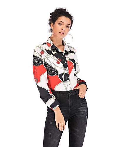 billige Dametopper-Skjorte Dame - Tribal Hvit