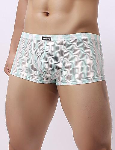 voordelige Herenondergoed & Zwemkleding-Netstof Boxer / Boxer shorts Heren Lage Taille
