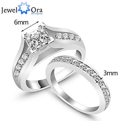 Heren Dames Statement Ring Zilver Zilver Modieus Bruiloft Feest Kostuum juwelen