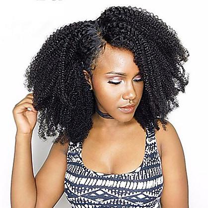 3 paketa Brazilska kosa afro Afro Kinky 10A Remy kosa Ljudska kosa tkati 10inch-22inch Natural Isprepliće ljudske kose Odor Free Nježno Rasprodaja Proširenja ljudske kose Žene Uniseks / neprerađenih