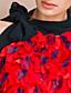 levne Šaty TS-ts vlnité květinové krk zabalené šaty s páskem (více barev)