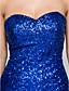 levne Večerní šaty-Pouzdrové Srdcový výstřih Asymetrické Flitry Formální večer Šaty s Flitry podle TS Couture®