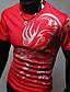 hesapli Erkek Tişörtleri ve Atletleri-Erkek Pamuklu Tişört Desen, Solid Günlük / Boho Spor / Kısa Kollu