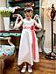 cheap Flower Girl Dresses-A-Line Princess Tea Length Flower Girl Dress - Satin Sleeveless Jewel Neck with Bow(s) Sash / Ribbon Flower by LAN TING BRIDE®