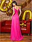 hesapli Balo Elbiseleri-Sütun sapanlar Süpürge / Fırça Kuyruk Şifon Boncuklama Yan Drape ile Balo / Resmi Akşam Elbise tarafından TS Couture®