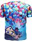 저렴한 남성 티셔츠&탱크 탑-남성 프린트 짧은 소매 티셔츠 일상 스포츠 면