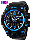 cheap Quartz Watches-Men's Sport Watch / Skeleton Watch / Military Watch Chinese Alarm / Calendar / date / day / Chronograph Silicone Band Charm / Luxury / Casual Multi-Colored / Water Resistant / Water Proof / LCD