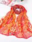 abordables Echarpes Chics en Chiffon-Femme Mousseline de soie Soirée Vacances Rectangle - Imprimé
