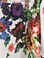 halpa Pluskokoiset mekot-Naiset Löysä Sifonki Mekko Boheemi Rento/arki Plus-koko,Painettu Pyöreä kaula-aukko Reisipituinen ½ hiha Polyesteri Kesä Mikrojoustava