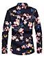 billige Herreskjorter-Bomull Store størrelser Skjorte - Blomstret Herre