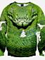 Masculino Moletom Casual / Escritório / Formal / Esporte Estampado Manga Comprida Poliéster Verde