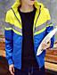 halpa Miesten untuvatakit-Miehet Pitkähihainen Normaali Padded Takki Yksinkertainen Rento/arki Yhtenäinen-Puuvilla Polyesteri Hupullinen