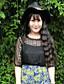 billige Dametopper-Rayon Sort Medium Halvlange ermer,Rund hals T-skjorte Ensfarget Sommer / Høst Enkel Fritid/hverdag / Plusstørrelser Dame