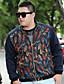 お買い得  メンズジャケット&コート-男性 プラスサイズ ソリッド ジャケット,ヴィンテージ ホルター マルチカラー コットン 長袖 ミディアム