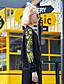 billige Blazere og jakker til damer-Bomull Sort Langermet,Rund hals Jakke Broderi Vintage / Aktiv Fritid/hverdag / Sport / Ferie-Høst / Vinter Dame