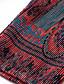 preiswerte Damen Kleider-Damen A-Linie Kleid-Lässig/Alltäglich Chinoiserie Geometrisch Ständer Übers Knie Langarm Rot Polyester Herbst Mittlere Hüfthöhe Dehnbar