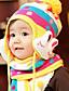 Mädchen Jungen Schal, Hut & Handschuhset Winter Strickware Rot Gelb