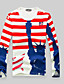 preiswerte Herren T-Shirts & Tank Tops-Herren Einfarbig Einfach Lässig/Alltäglich T-shirt,Rundhalsausschnitt Herbst Langarm Kunstseide Mittel