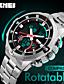 levne Módní hodinky-Pánské Digitální Náramkové hodinky Inteligentní hodinky čínština Kalendář Chronograf Velký ciferník Svítící Hodinky s dvojitým časem Nerez