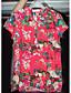 Damen Blumen Einfach Lässig/Alltäglich T-shirt,V-Ausschnitt Kurzarm Baumwolle