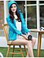 cheap Women's Blazers & Jackets-Women's Sports Modern/Comtemporary Spring/Fall Jacket,Solid Hooded Long Sleeve Short Polyster