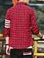 cheap Men's Shirts-Men's Daily Going out Work Club Plus Size Vintage Casual Street chic Fall All Seasons Shirt,Solid Striped Check Shirt Collar Long Sleeves