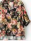 cheap Women's Shirts-Women's Going out Street chic Shirt - Floral V Neck / Fall