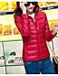 preiswerte Damen Daunenjacken & Parkas-Damen Gefüttert Mantel Einfach Aktiv Ausgehen Solide Gestreift Druck-Baumwolle Acryl Andere Polypropylen Langarm