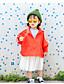 Mädchen Anzug & Blazer einfarbig Baumwolle Herbst Lange Ärmel