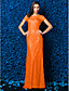 billige Ballkjoler-Tube / kolonne Illusjon Hals Gulvlang Blonder Cocktailfest / Skoleball / Formell kveld Kjole med Blonder av TS Couture®