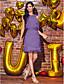 Χαμηλού Κόστους Φορέματα κοκτέιλ-Ίσια Γραμμή Με Κόσμημα Μέχρι το γόνατο Σιφόν Κοκτέιλ Πάρτι Φόρεμα με Χάντρες / Ζώνη / Κορδέλα με TS Couture®