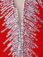 billige Kjole til kunstløp-Kjole til kunstløp Dame Skøyteløp Kjoler Rød utendørs / Konkurranse Skøyteklær Håndlaget Klassisk Langermet Skøyting