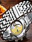 tanie Zegarki mechaniczne-Męskie Nakręcanie automatyczne Pudełka na zegarki Otwieraki do zegarków zegarek mechaniczny Zegarek na nadgarstek Zegarek na bransoletce